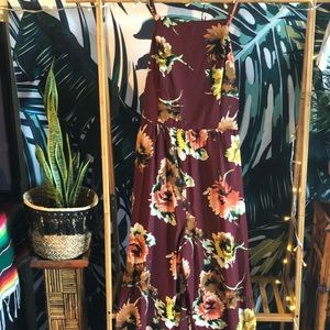 NWT Floral Wide-leg Jumpsuit Perfect for Summer!